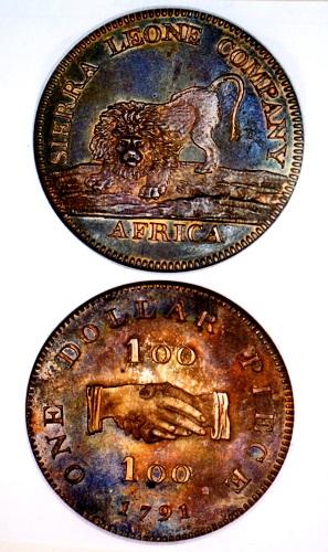 1791年シェラレオネ会社 1ドル銀貨