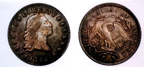アメリカ 1ドル銀貨 1795年