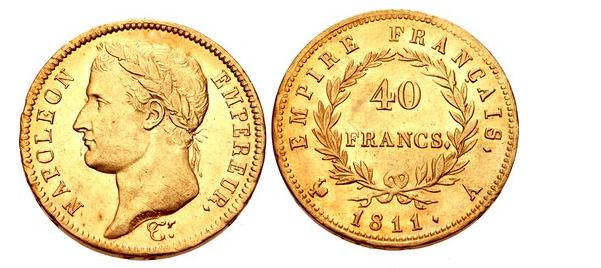 FRANCE Premier Empire Napoleon I 1804-1814 AV 40 Francs