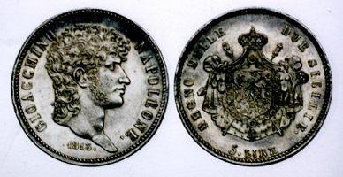ジオアッキノ・ナポレオン 5リレ銀貨 1813年 ジョアシム・ミュラ元帥