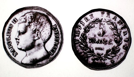 ナポレオン2世 5フラン銀貨 1816年 王位請求者