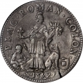 イタリアスクド銀貨アレッサンドロファルネーゼ2