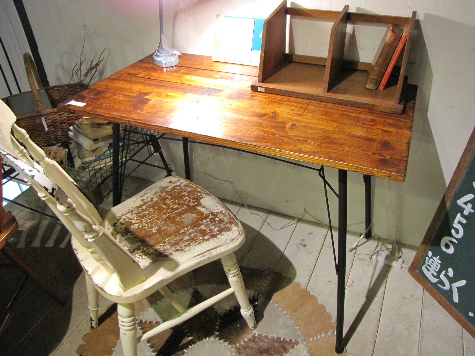 テーブル リデザイン スチール脚 ペイント脚