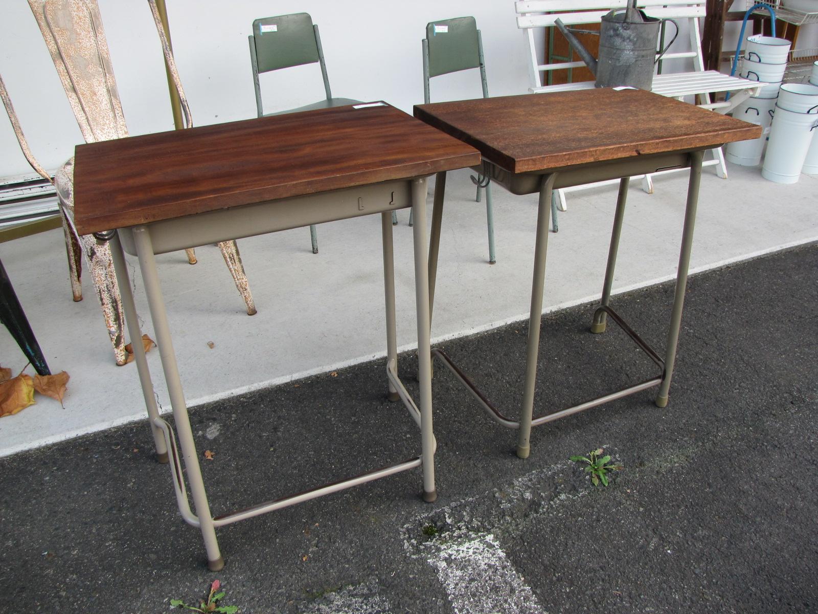 古材天板のスクールデスク