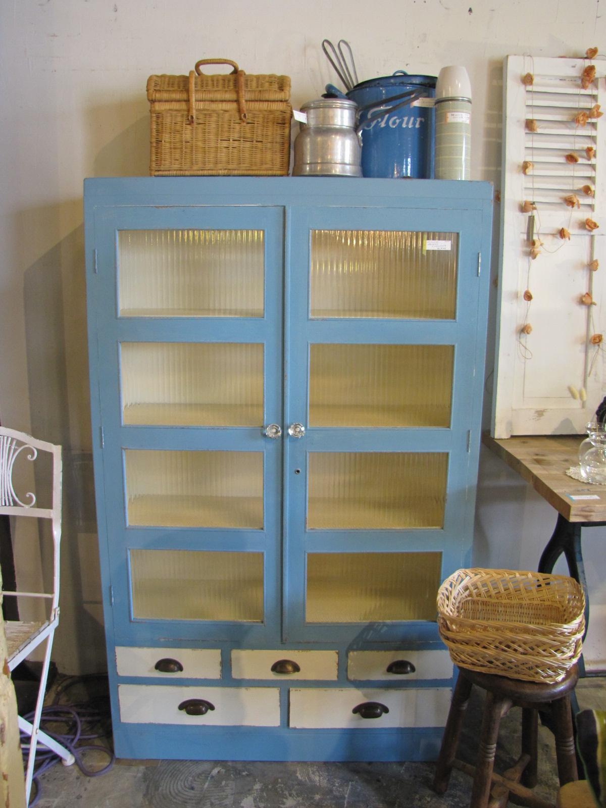 キャビネット 食器棚 ペイント リメイク