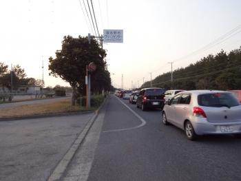 055付近は大渋滞、ららぽまで