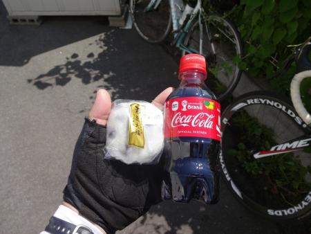 021赤コーラと豆大福を補給
