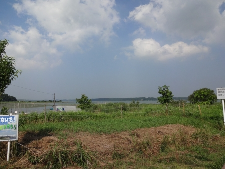 022新川沿いから印旛沼へ到着