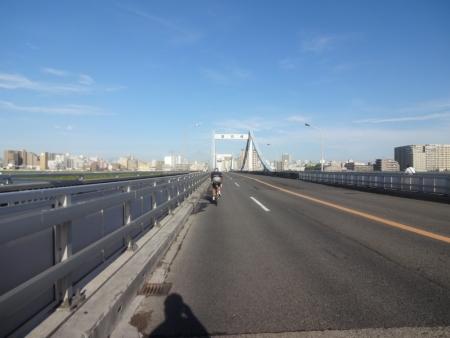 012江戸川右岸を南下、葛西橋通りを都内に、葛西橋
