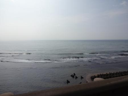 023海岸に出ました