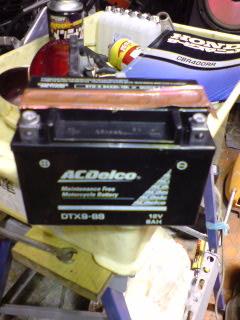 ACデルコ製バッテリー