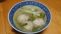 白菜と春雨の鶏団子スープ 20140425