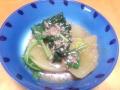 大根とほうれん草の炒め煮 20140212