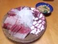 ぶりとタコのお刺身と麩の卵とじ 20140216