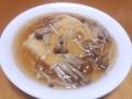 豆腐のきのこあんかけ 20140220