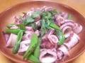 イカとスナップエンドウの炒め物 20140222