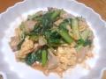 小松菜と卵のケチャップ炒め 20140318