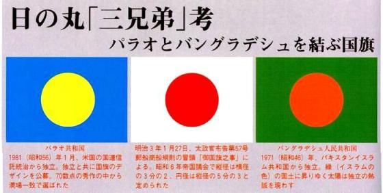 日の丸は日本とパラオとバングラデシュを結ぶ固い絆・日の丸「三兄弟」考