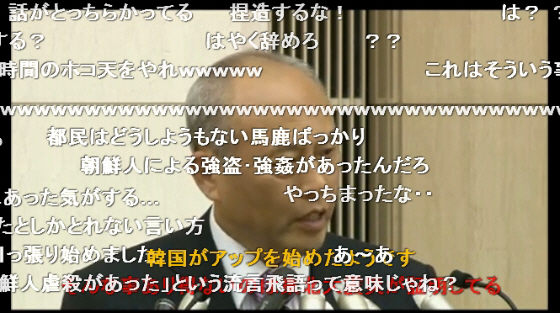 舛添要一東京都知事「正確な情報が伝わらずパニックが起きると関東大震災時の朝鮮人虐殺のような事が起きる」