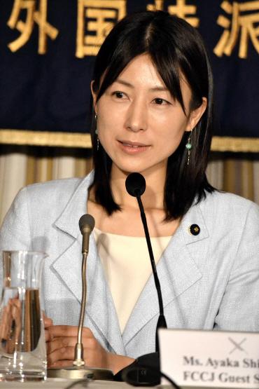 みんなの党所属の都議会議員、塩村あやか氏が外国特派員協会で会見を行った