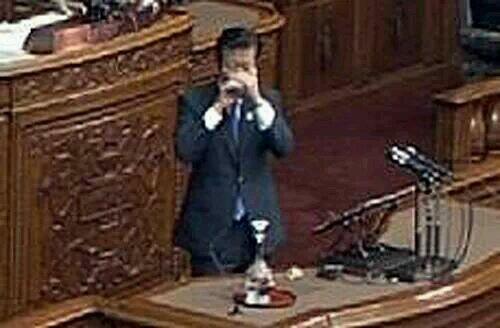公明党党首 山口那津雄、朝鮮飲み