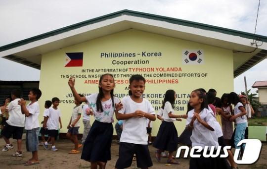 フィリピンで日の丸を韓国旗に