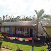 バナハオ小学校内でも大きな被害がなかった「JICAビルディング」