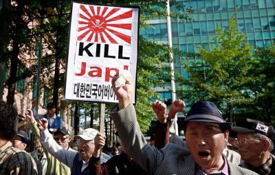 韓国の首都ソウルで韓国人が「日本人を殺せ」とデモ
