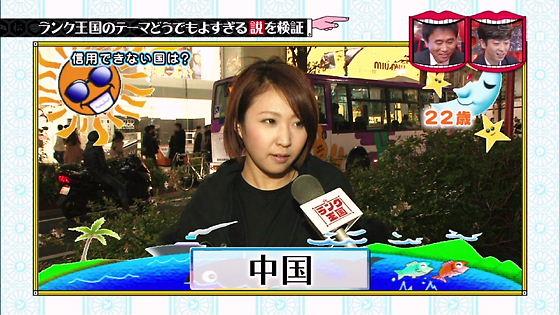 7月9日TBS「水曜日のダウンタウン」信用できない国に韓国無しのアンケート偽造