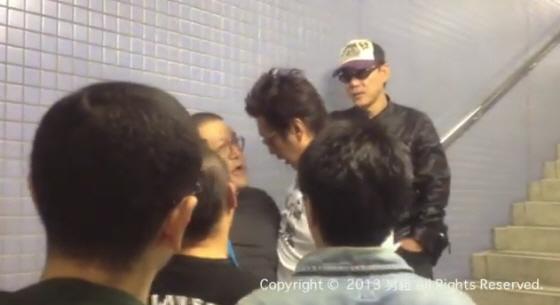 平成25年(2013年)10月26日午後、大阪市内の地下鉄駅構内で「日韓国交断絶国民大行進」というデモに参加しようとした男性を取り囲み、脅して暴行した
