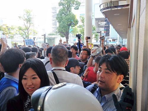 レイシスト川崎市長福田と反日勢力から川崎を護るデモ20140726