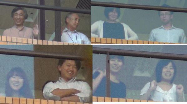 朝日新聞への抗議を笑いながら見下ろす朝日新聞本社社員たち