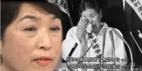 朝日新聞の植村隆は吉田清治のストーリーにそって「女子挺身隊として連行された」と明らかに事実と異なる記事を書いたが、福島瑞穂らは訴状に「養父に連れられ北京に到着後、日本軍に呼び止められトラックに乗せられ連れて行かれた」とストーリーを修正した