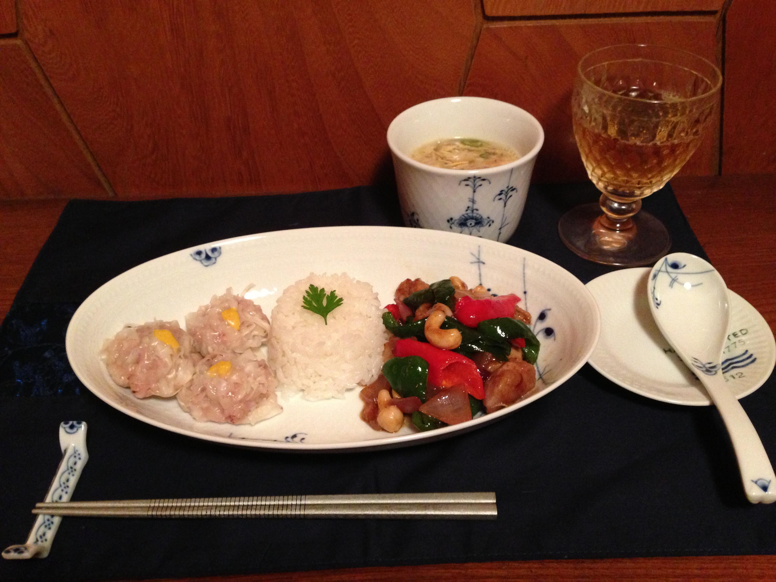 鶏肉のカシューナッツ炒め1