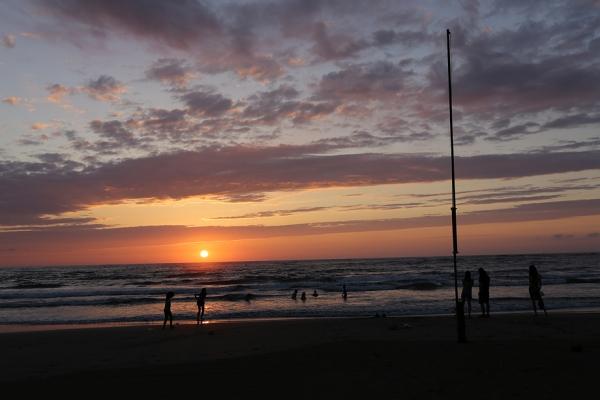 象潟海岸。夕日がきれいだった。