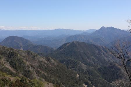 東覗きからは奥三河の山々