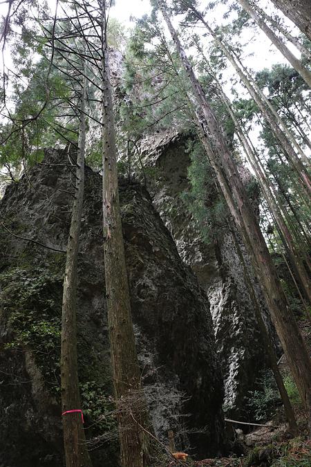巨岩。鬼岩。