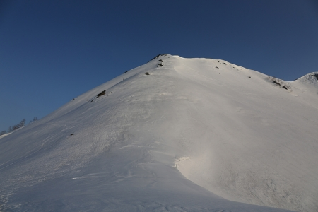 弓折岳を直登