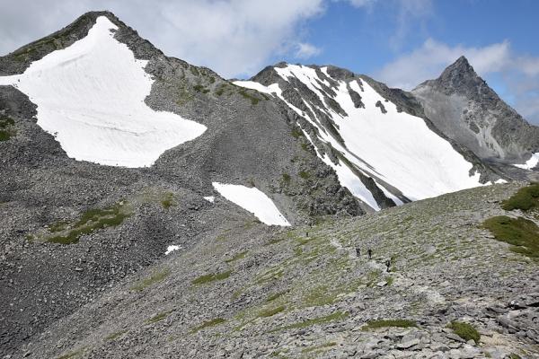 槍、大喰岳、中岳の3000mトリオ