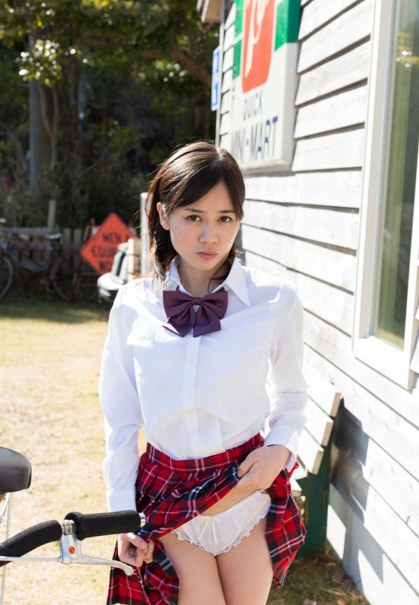 吉川あいみ JKコスプレで巨乳おっぱいを露出するAV女優エロ画像dzz005.jpg
