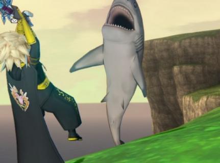 レベル上げ15~グランゼドーラ 鮫もいる