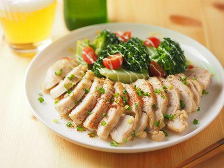 鶏むね肉のはちみつ味噌蒸し10