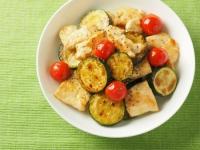 鶏むね肉とズッキーニの炒め物10