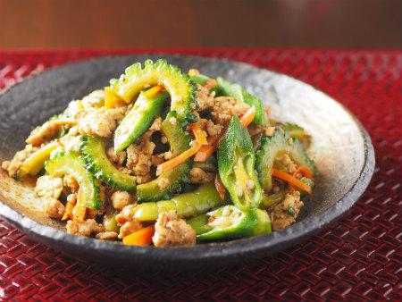 夏野菜と鶏ひき肉のオイスター03