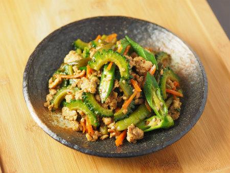 夏野菜と鶏ひき肉のオイスター09