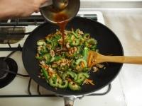 夏野菜と鶏ひき肉のオイスター30