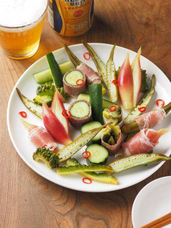 夏野菜の酢漬け生ハム巻き41