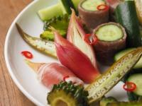 夏野菜の酢漬け生ハム巻き28