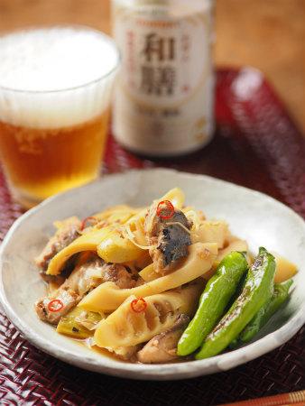 淡竹と鯖缶の煮物13