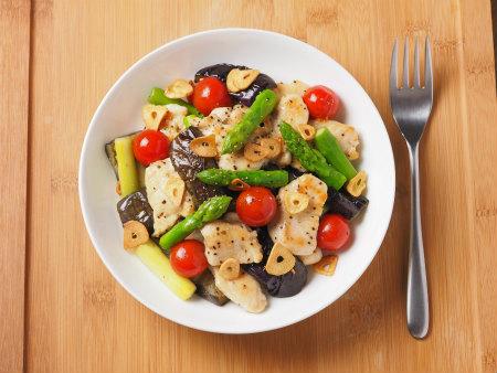 鶏むね肉と夏野菜のガーリック11